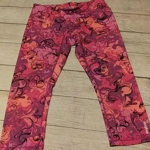 Reebok yoga pants in Paisley pinks and oranges